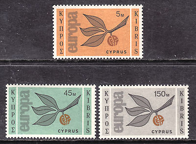 1965 Cyprus Europa Set/3 #262-264, Vf, Mint Very Lightly Hinged