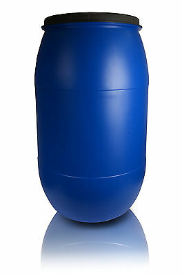 Plastic barrel 220L with lid Liquid Water Storage Container Drum Keg Food Grade