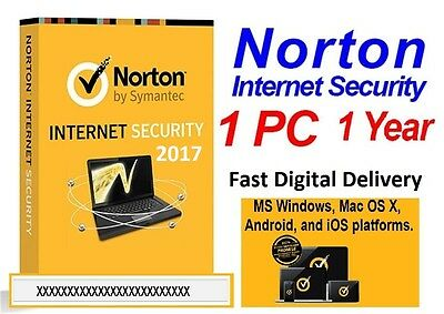 Norton Internet Security 2017/2016 - 1 PC 1 Year