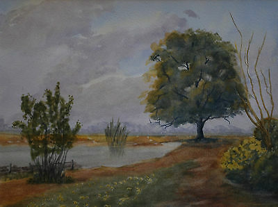 Original Landscape Watercolour Painting with a River