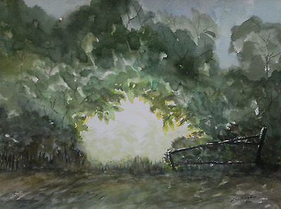 Original Landscape Watercolour Painting of trees