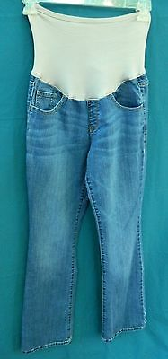 Old Navy Maternity Blue Denim Boot Cut Jeans w/Stretch Panel Size 8R