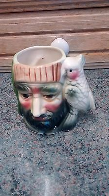 Pirate with Cockatoo Parrot Toby Jug
