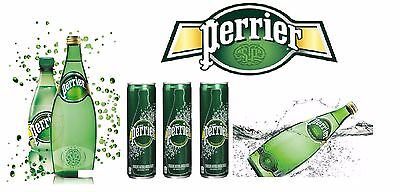 Perrier Natural Sparkling Mineral Water Available in Glass and Plastic Bottles