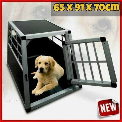 Pet Transport Crate Medium Heavy Duty Car Vehicle Travel Shaped Dog Cages Door