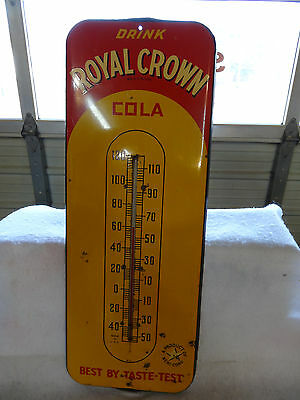NICE OLD DRINK ROYAL CROWN COLA SODA THERMOMETER 1950s