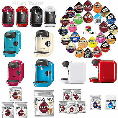 Bosch Tassimo Vivy T12 Coffee Drinks Hot Chocolate Tea Pods Cappuccino Machine