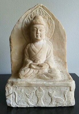 Early Antique Chinese Stone Statue Buddha Statue Old Collection
