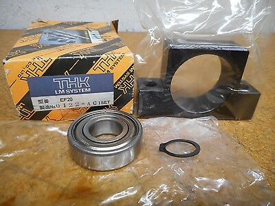 THK LM System EF20 Ballscrew Support With NTN 6204Z Bearing 47MM ID NEW IN BOX