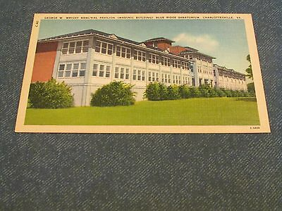 Postcard-Blue Ridge Sanatorium, Charlottesville, Va.-White Border Era-Unposted