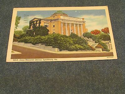 Postcard-Jones Memorial Library, Lynchburg, Va.-White Border Era-Posted