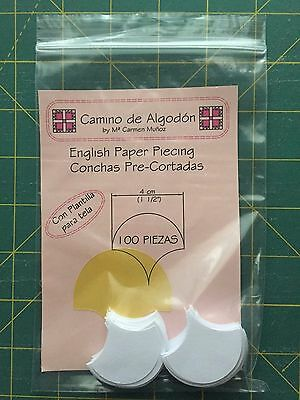 English Paper Piecing Conchas 4 cm (1 1/2'')