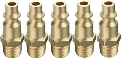 """1/4"""" Npt M-Style Male Brass Connector 5 Pack"""