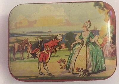 Antique Fillerys Toffees LTD. Candy Tin Birmingham England With Scene