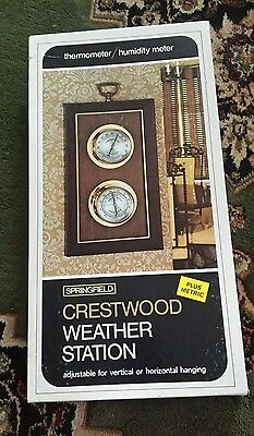 Springfield crestwood weather station made in USA thermometer and hygrometer NOS