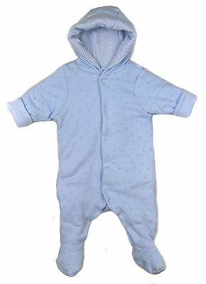 Baby Boys Padded All in On Coat Ex Mother and Baby Store NB up to 9-12m