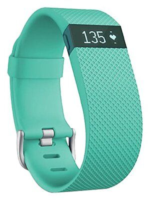 Fitbit Charge HR Heart Rate and Activity Wristband TEAL BRAND NEW Large