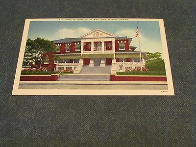 Postcard-Lodge 197.B.P.O. Elks, Roanoke, Va.-White Border Era-Unposted