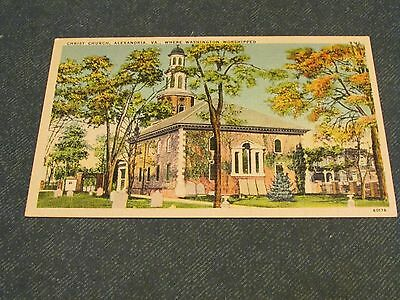 Postcard-Christ Church, Alexandria, Va-White Border Era-Unposted