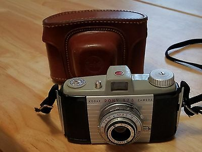 Vintage Kodak Pony 828 Film Camera With Leather Case Nice Clean Cond Made Usa