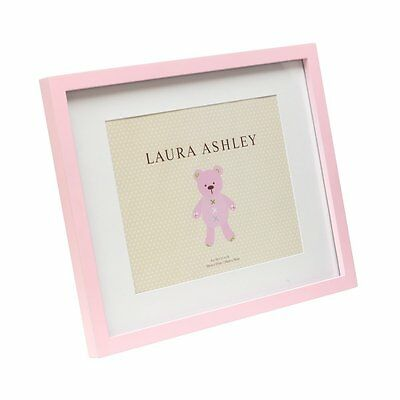 "Isaac Jacobs Laura Ashley Pink Baby Girl Wood Frame W/White Mat 11""x14"" New Nwt"