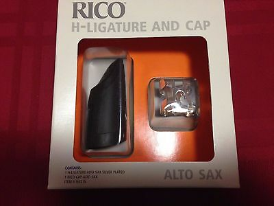 Rico H-Ligature Alto Sax Silver Plated With Rico Cap Has1S