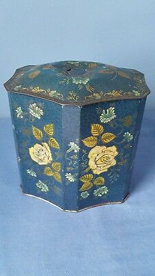 Antique/Vintage Floral Design Tin Container/Canister