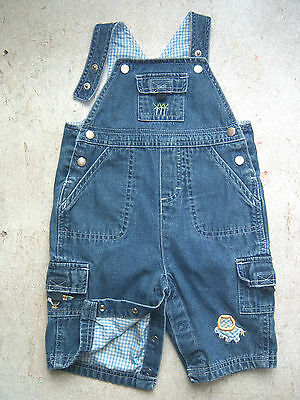 SMALL WONDERS toddlers ' blue denim jeans bib overall fully lined 3 / 6 Months