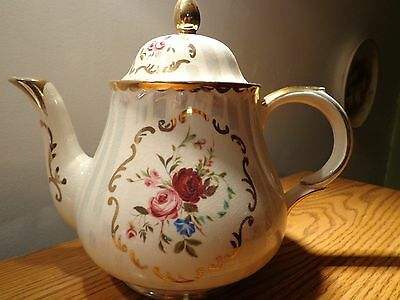 Vintage ARTHUR WOOD Floral Gold Trim Teapot #5183 Made In ENGLAND
