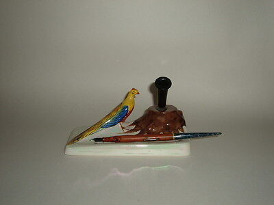 Extremely Rare Carlton Ware 1930's Porcelain  Desk Pen Stand - Excellent Con.