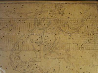 1700s EXTREMELY SCARCE CELESTRIAL STAR CHART MAP of AQUARIUS by Dr. JOHN BEVIS