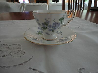 Adderley-fine Bone China White with bouquets of Forget Me Nots