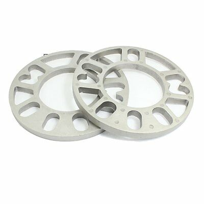 2PCS Aluminum Alloy 4 and 5 Lug 10mm Thickness Wheel Spacer for Car J3A