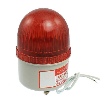 AC 220V 15W Red Light Industrial Signal Tower Flash Warning Lamp J3A