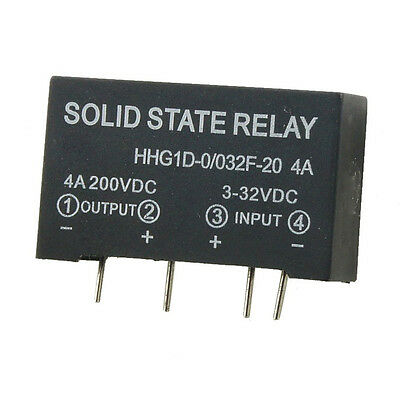 Input 3-32V DC Output 4A 200V DC 4 Pin PCB Solid State Relay J3A