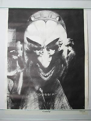 Vintage 1973 GOSSIP Poster Creepy Psychedelic Trippy Poster Monti Co. VERY RARE
