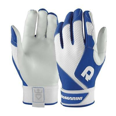 New Womans Size-S DeMarini Phantom Sheep Skin Leather Batting Gloves-Royal Blue