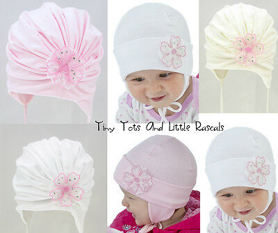 Baby Girls Infant Toddler Spring Autumn Hat Bonnet Christening Occasion Baptism
