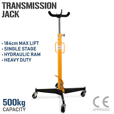 Hydraulic Transmission Jack - 500kg Single Stage Gearbox Lifter Hoist 0.5 Ton