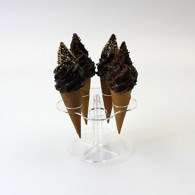 Acrylic Ice Cream Cone Holder / Chip Cone Holder / Counter Top Display Stand