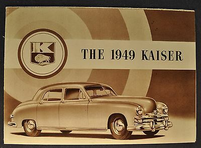 1949 Kaiser Sales Brochure Folder Browntone Deluxe Excellent Original 49
