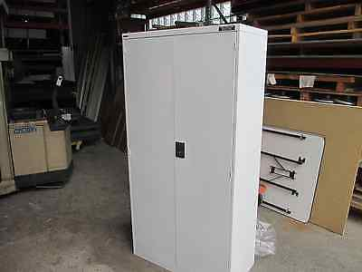 Namco Factory Second Cupboard Lockable with 5 adjustable shelves {Dented Doors}