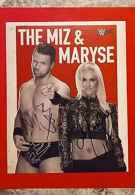 Signed The Miz & Maryse GameStop Expo 2016 8x10 WWE 2K17 Print