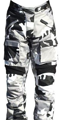 Black Ash Mens Motorcycle Pants Textile Cordura Armored Grey Size 38""