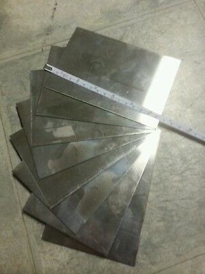 "Stainless Steel  4"" x6""+- 24 gage plate metal sheet 430 alloy one piece"