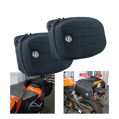 Universal Motorcycle Motorbike Saddle Carry waist Chest Bags Panniers Black