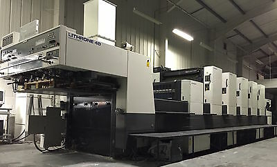 Komori Lithrone L540+C 1998 5 Color Offset Press Coater Pqc Amr Sapc Ivt Weko