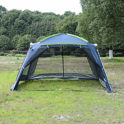 Outsunny 5-8 Persons Camping Canopy Tent Waterproof Outdoor Pop up Mesh