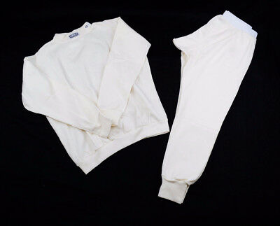 Racing Underwear Sfi 3.3 Approved Undergarment Rjs 2Pc Top & Bottom White Medium