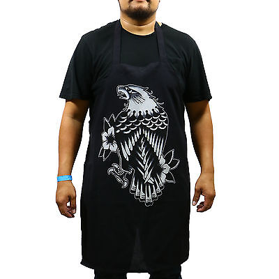 Authentic TIP TOP Barber's Eagle Rain Josh Persons Cutting Apron Black